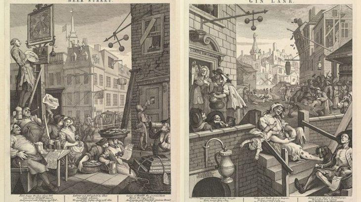 ロンドンに酔っ払いがあふれた時代-ジン・クレイズ-