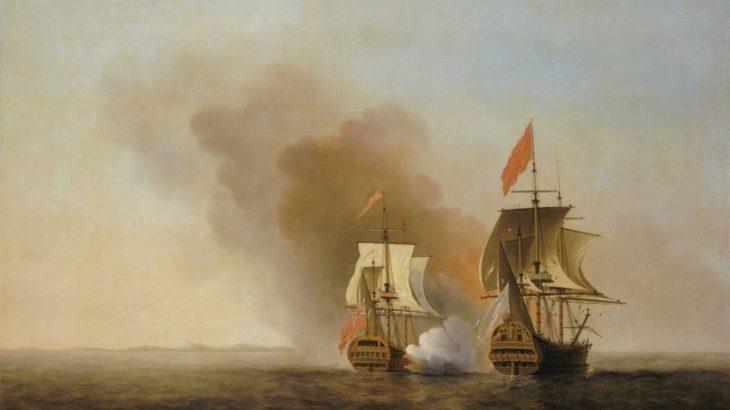 代将ジョージ・アンソン、スペイン財宝艦隊を捕獲して世界一周
