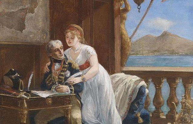 ナポリを奪還したネルソン少将、ハミルトン夫妻をともなって帰還