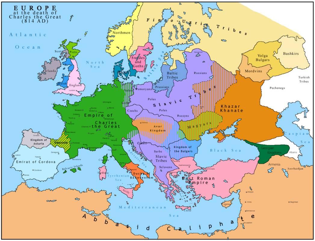 814年のヨーロッパ