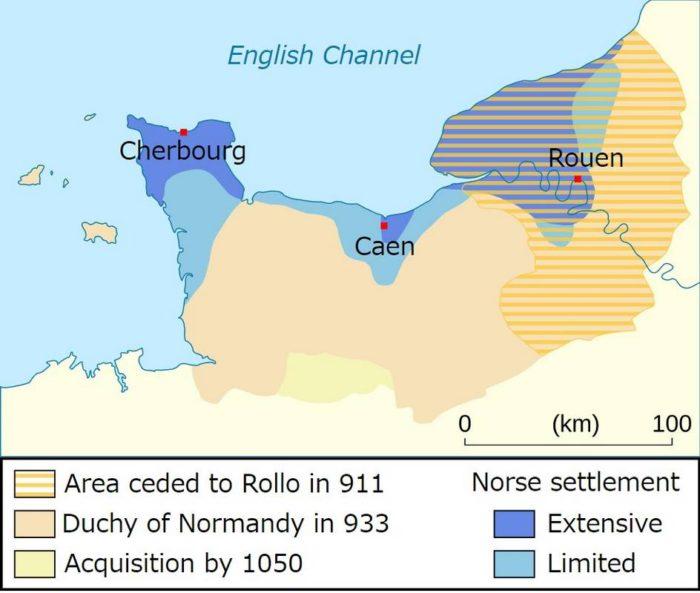 フランスのノルマンディ公爵領:911年~1050年