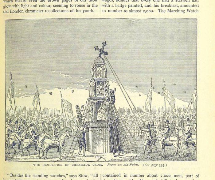 Demolition of Cheapside Cross
